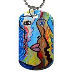 Graffiti Wall Color Artistic Dog Tag (one Side)