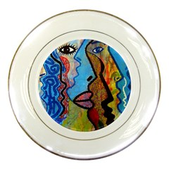 Graffiti Wall Color Artistic Porcelain Plates