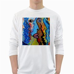 Graffiti Wall Color Artistic White Long Sleeve T Shirts