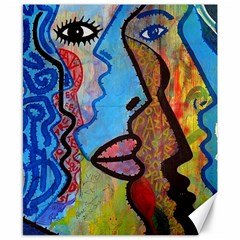 Graffiti Wall Color Artistic Canvas 8  X 10