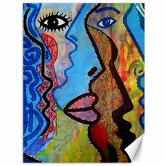 Graffiti Wall Color Artistic Canvas 36  X 48