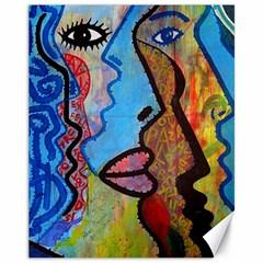Graffiti Wall Color Artistic Canvas 11  X 14