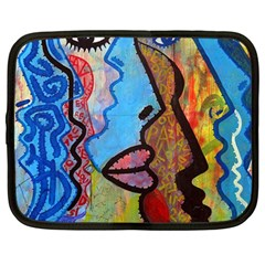 Graffiti Wall Color Artistic Netbook Case (large)