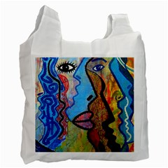 Graffiti Wall Color Artistic Recycle Bag (one Side)