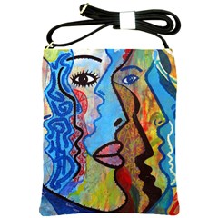 Graffiti Wall Color Artistic Shoulder Sling Bags