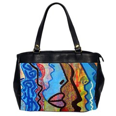 Graffiti Wall Color Artistic Office Handbags (2 Sides)