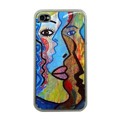 Graffiti Wall Color Artistic Apple Iphone 4 Case (clear)