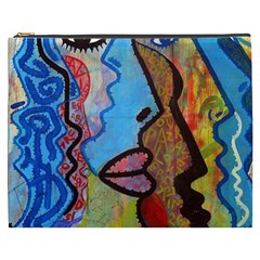 Graffiti Wall Color Artistic Cosmetic Bag (xxxl)