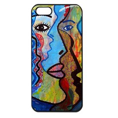 Graffiti Wall Color Artistic Apple Iphone 5 Seamless Case (black)