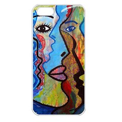 Graffiti Wall Color Artistic Apple Iphone 5 Seamless Case (white)