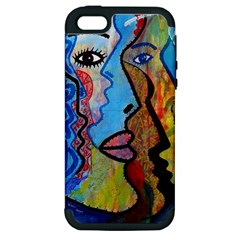 Graffiti Wall Color Artistic Apple Iphone 5 Hardshell Case (pc+silicone)