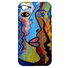 Graffiti Wall Color Artistic Apple Iphone 4/4s Hardshell Case (pc+silicone)