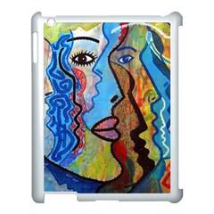 Graffiti Wall Color Artistic Apple Ipad 3/4 Case (white)