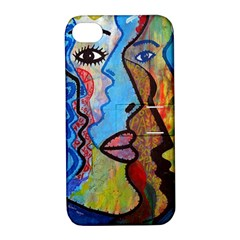 Graffiti Wall Color Artistic Apple Iphone 4/4s Hardshell Case With Stand