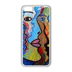 Graffiti Wall Color Artistic Apple Iphone 5c Seamless Case (white)