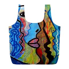 Graffiti Wall Color Artistic Full Print Recycle Bags (l)