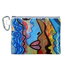 Graffiti Wall Color Artistic Canvas Cosmetic Bag (l)