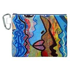 Graffiti Wall Color Artistic Canvas Cosmetic Bag (xxl)