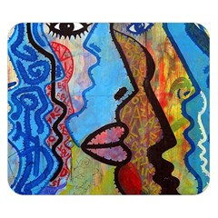 Graffiti Wall Color Artistic Double Sided Flano Blanket (small)