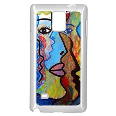 Graffiti Wall Color Artistic Samsung Galaxy Note 4 Case (white)