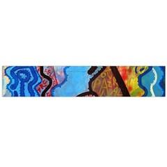 Graffiti Wall Color Artistic Flano Scarf (large)