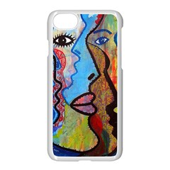 Graffiti Wall Color Artistic Apple Iphone 7 Seamless Case (white)