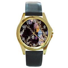 Qingdao Provence Lights Outdoors Round Gold Metal Watch