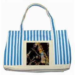 Qingdao Provence Lights Outdoors Striped Blue Tote Bag