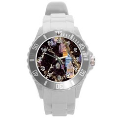 Qingdao Provence Lights Outdoors Round Plastic Sport Watch (l)