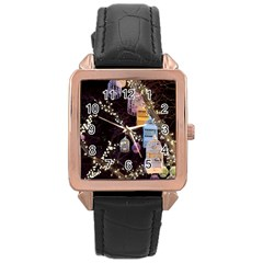 Qingdao Provence Lights Outdoors Rose Gold Leather Watch