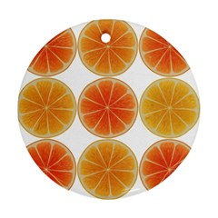 Orange Discs Orange Slices Fruit Ornament (round)