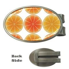 Orange Discs Orange Slices Fruit Money Clips (oval)