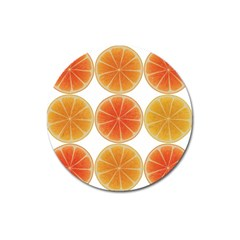 Orange Discs Orange Slices Fruit Magnet 3  (round)