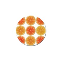 Orange Discs Orange Slices Fruit Golf Ball Marker (4 Pack)