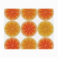 Orange Discs Orange Slices Fruit Small Glasses Cloth