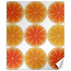 Orange Discs Orange Slices Fruit Canvas 8  X 10