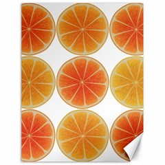 Orange Discs Orange Slices Fruit Canvas 18  x 24
