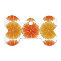 Orange Discs Orange Slices Fruit Dog Tag Bone (two Sides)