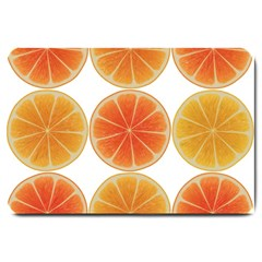 Orange Discs Orange Slices Fruit Large Doormat