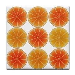 Orange Discs Orange Slices Fruit Face Towel