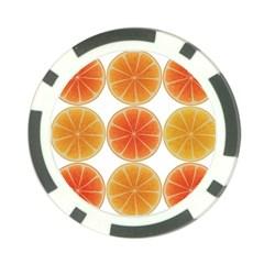 Orange Discs Orange Slices Fruit Poker Chip Card Guards (10 Pack)