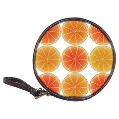 Orange Discs Orange Slices Fruit Classic 20 Cd Wallets