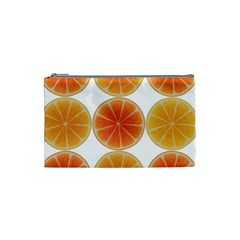 Orange Discs Orange Slices Fruit Cosmetic Bag (small)