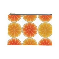 Orange Discs Orange Slices Fruit Cosmetic Bag (large)
