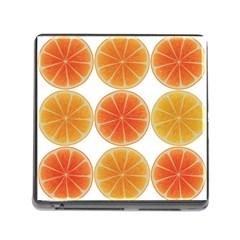Orange Discs Orange Slices Fruit Memory Card Reader (square)