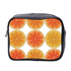 Orange Discs Orange Slices Fruit Mini Toiletries Bag 2 Side