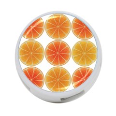 Orange Discs Orange Slices Fruit 4 Port Usb Hub (one Side)