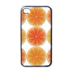 Orange Discs Orange Slices Fruit Apple Iphone 4 Case (black)
