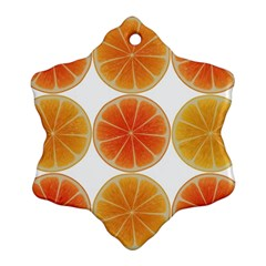 Orange Discs Orange Slices Fruit Snowflake Ornament (2 Side)