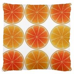 Orange Discs Orange Slices Fruit Large Cushion Case (one Side)